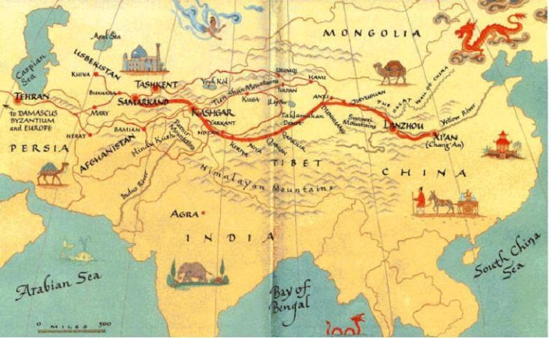 Многозначителна карта на азия най